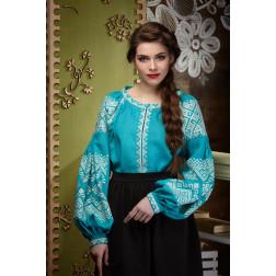 Комплект ниток ДМС до жіночої блузки – вишиванки БОХО Намисто ЖЕ003лЗнн02_027_017h