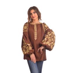 Пошита жіноча вишиванка БОХО для вишивання нитками Урочиста ЖЕ004лК4201_015_032