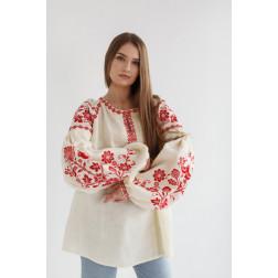 Пошита жіноча вишиванка БОХО для вишивання нитками Урочиста ЖЕ004лМ4201_055_114
