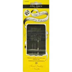 CE Silk Ribbon Embroidery Collection - 25 голок для вишивання шовковими стрічками JJ47010