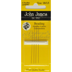 JJ10503 Beading - Набір довгих голок для вишивки бісером 10, 12 и 13 розміру