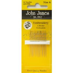Embroidery - Голки для Вишивки на Бавовняних та Тяжких Тканинах (Розмір - 6) JJ13506