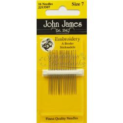 Embroidery - Голки для Вишивки на Бавовняних та Тяжких Тканинах (Розмір - 7) JJ13507