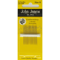 Embroidery - Голки для Вишивки на Бавовняних та Тяжких Тканинах (Розмір - 8) JJ13508