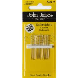 Embroidery - Голки для Вишивки на Бавовняних та Тяжких Тканинах (Розмір - 9) JJ13509