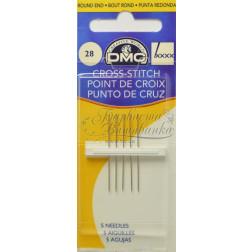 Cross Stitch - Голки для вишивки хрестиком з великим вушком та тупим кінцем (Розмір - 28) DMC1771/4