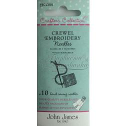 Crewel Embroidery - Набір голок для вишивки гладдю (Розмір 18/22) JJCC001