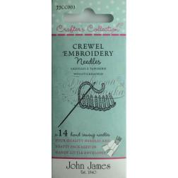 Crewel Embroidery - Набір голок для вишивки гладдю JJCC003