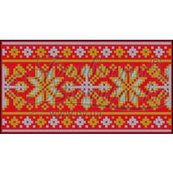 Пошитий клатч (Ukrainian boho) для вишивання нитками КЕ001лР1301_023_044