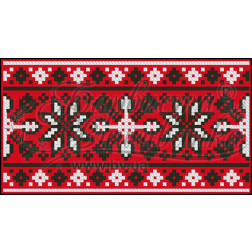 Пошитий клатч (Ukrainian boho) для вишивання нитками КЕ001лР1301_037_036