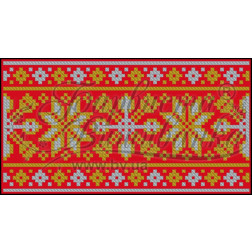 Пошитий клатч (Ukrainian boho) для вишивання нитками КЕ001лР1301_037_044