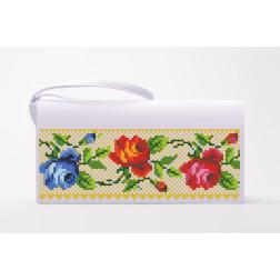 Набір для вишивки бісером Барвиста Вишиванка заготовки пошитого клатча Багаті квіти. Буковинська КЛ005пБ1301k