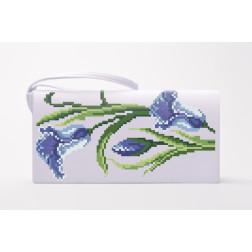 Набір для вишивки нитками Барвиста Вишиванка заготовки пошитого клатча Іриси КЛ015пБ1301i