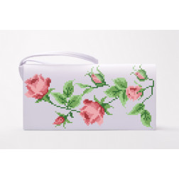 Набір ниток DMC для вишивки хрестиком до заготовки пошитого клатча Тендітні троянди КЛ017кБ1301h