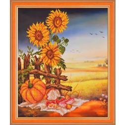 Картина вишита бісером Барвиста Вишиванка Український натюрморт 39х46 КТ016ан3440