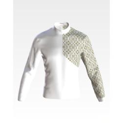 Набір бісеру Preciosa для вишивки бісером до заготовки чоловічої сорочки – вишиванки Синевир ЧЕ053дБнн07b