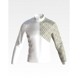 Заготовка чоловічої сорочки – вишиванки для вишивки бісером і нитками Синевир ЧЕ053дБнн07