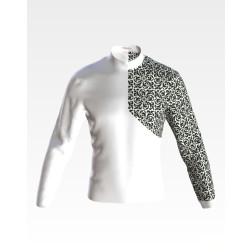 Набір бісеру Preciosa для вишивки бісером до заготовки чоловічої сорочки – вишиванки Козацька ЧЕ054дБнн07b