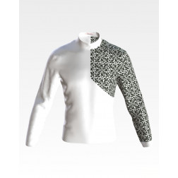 Заготовка чоловічої сорочки – вишиванки для вишивки бісером Козацька ЧЕ054кБнн07