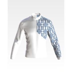 Заготовка чоловічої сорочки – вишиванки для вишивки бісером і нитками Відлуння ЧЕ055дБнн07