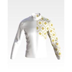 Набір бісеру Preciosa для вишивки бісером до заготовки чоловічої сорочки – вишиванки Ніжний світанок ЧЕ056дБнн07b