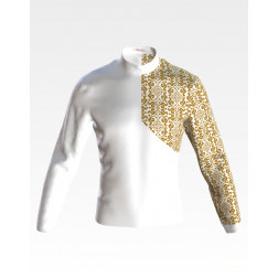 Заготовка чоловічої сорочки – вишиванки для вишивки бісером і нитками Зваба ЧЕ058дБнн07