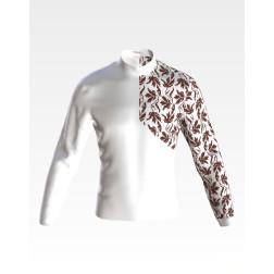 Заготовка чоловічої сорочки – вишиванки для вишивки бісером Стежина ЧЕ061кБнн07