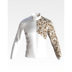 Заготовка чоловічої сорочки – вишиванки для вишивки бісером і нитками Квіткова перлина ЧЕ063дБнн07