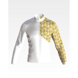 Заготовка чоловічої сорочки – вишиванки для вишивки бісером і нитками Листопад ЧЕ064дБнн07