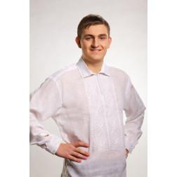 Сорочка-вишиванка чоловіча вишита машинною вишивкою гладдю ЧС603лБнн07