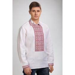 Сорочка-вишиванка чоловіча вишита машинною вишивкою хрестиком ЧС624лБ4807
