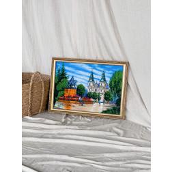 Картина вишита бісером Барвиста Вишиванка Барвистий майдан 67х49 МТ002ан6143