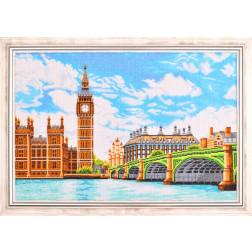 Картина вишита бісером Барвиста Вишиванка Велике серце Британії (Лондон, центр міста) 73х52 МТ018ан6443