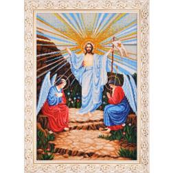 Картина вишита бісером Барвиста Вишиванка  Воскресіння Христове 48х67 ОТ001ан4059