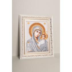 Картина вишита бісером Барвиста Вишиванка  Казанська Ікона Божої Матері 25х30 ОТ041ан1622