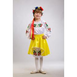 Заготовка дитячого плаття на 9-12 років Сунички для вишивки бісером ПД001кБ40нн