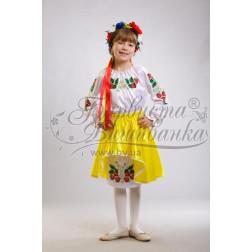 Набір ниток DMC для вишивки хрестиком до заготовки дитячого плаття – вишиванки на 9-12 років Сунички ПД001дБ40ннh
