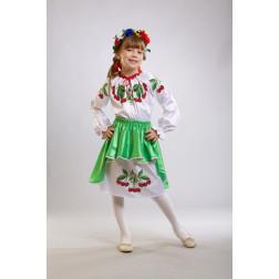 Заготовка дитячого плаття на 9-12 років Вишеньки для вишивки бісером ПД002кБ40нн