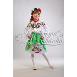Набір ниток DMC для вишивки хрестиком до заготовки дитячого плаття – вишиванки на 9-12 років Вишеньки ПД002дБ40ннh