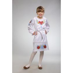 Заготовка дитячого плаття на 9-12 років Маки орнамент для вишивки бісером ПД003кБ40нн