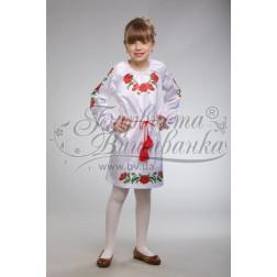 Набір ниток DMC для вишивки хрестиком до заготовки дитячого плаття – вишиванки на 9-12 років Тендітні маки ПД004дБ40ннh