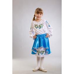 Заготовка дитячого плаття на 9-12 років Лілеї для вишивки бісером ПД006кБ40нн