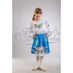 Набір ниток DMC для вишивки хрестиком до заготовки дитячого плаття – вишиванки на 9-12 років Лілеї ПД006дБ40ннh