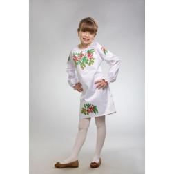 Заготовка дитячого плаття на 9-12 років Калина і дубок для вишивки бісером ПД007кБ40нн