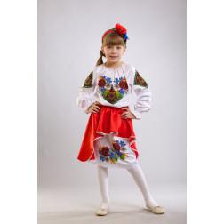 Заготовка дитячого плаття на 9-12 років Польова для вишивки бісером ПД008кБ40нн