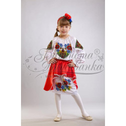 Набір ниток DMC для вишивки хрестиком до заготовки дитячого плаття – вишиванки на 9-12 років Польова ПД008дБ40ннh