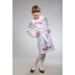 Заготовка дитячого плаття на 9-12 років Троянди для вишивки бісером ПД009кБ40нн