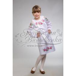 Набір ниток DMC для вишивки хрестиком до заготовки дитячого плаття – вишиванки на 9-12 років Троянди ПД009дБ40ннh