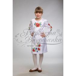 Набір ниток DMC для вишивки хрестиком до заготовки дитячого плаття – вишиванки на 9-12 років Маки, волошки, колоски ПД010дБ40ннh