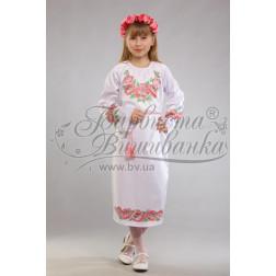 Набір ниток DMC для вишивки хрестиком до заготовки дитячого плаття – вишиванки на 9-12 років Маки рожеві ПД015дБ40ннh